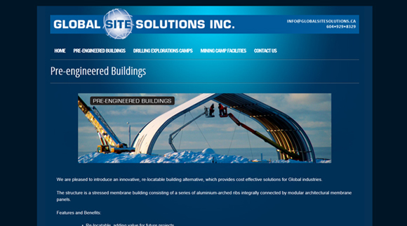 Inside Page website design for Pre-engineered buildings