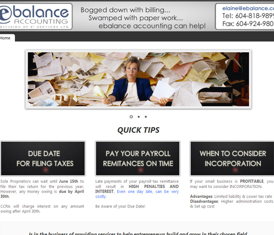 E-Balance • Small Business Website