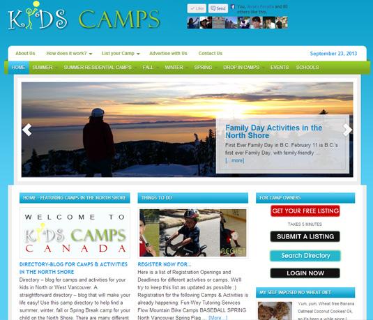 KIDS CAMPS CANADA