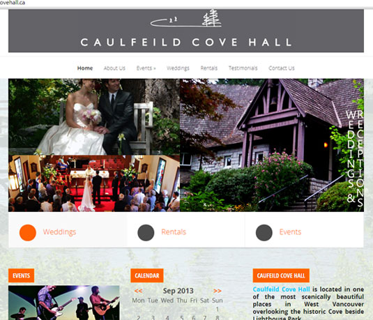 Events Website for West Vancouver Hall