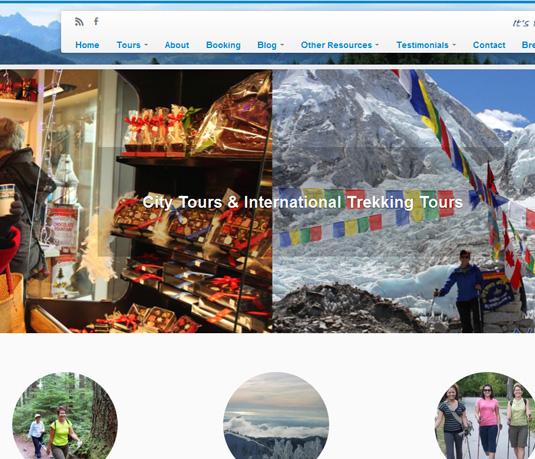 Natural Trekking Website Design for Tour Company in Vancouver